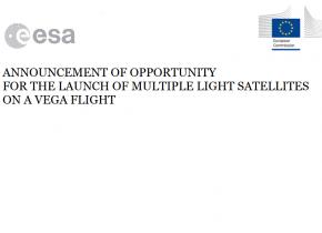Announcement of Opportunity for the launch of multiple light satellites on a VEGA flight