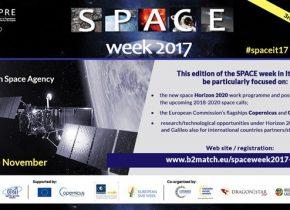 Space Week 2017, 21-23 Novembre a Roma