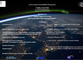Seminario Italian Space Economy for Sustainable Development Goals – UNISPACE+50