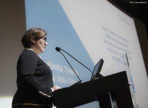 Elisabetta Trenta, Ministro della Difesa, durante il suo intervento al workshop AIPAS.