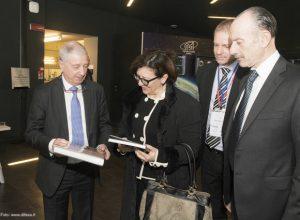 Il Commissario Benvenuti, il Ministro Trenta, il Presidente AIPAS Rossettini e l'Amm. Sq. Massagli.